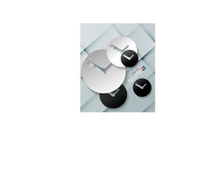 Vector time paper modern clock designのイラスト素材 [FYI03096790]