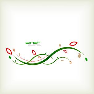 Autumn floral minimal backgroundのイラスト素材 [FYI03096791]