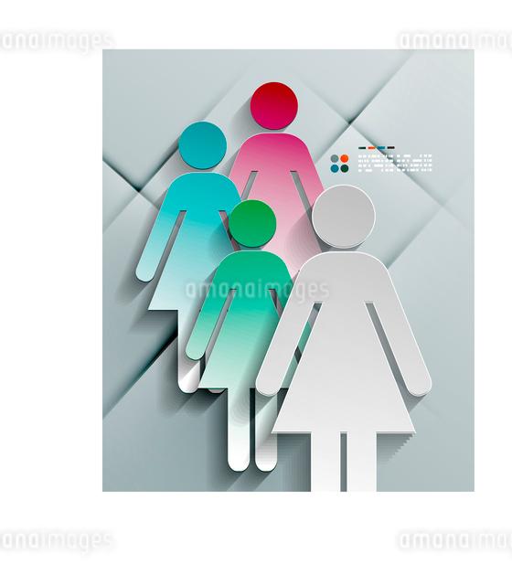 Vector 3d paper woman modern designのイラスト素材 [FYI03096793]