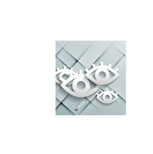 Vector paper eyes modern designのイラスト素材 [FYI03096794]