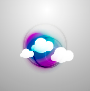 Abstract blurred colorful cloudsのイラスト素材 [FYI03096803]