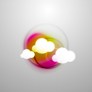Abstract blurred colorful cloudsのイラスト素材 [FYI03096839]