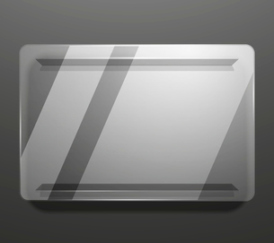 Empty glass plate vector backgroundのイラスト素材 [FYI03096842]