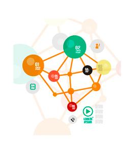 Minimal connection infographicsのイラスト素材 [FYI03096847]