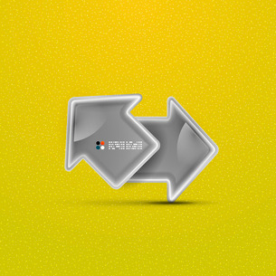 3d vector glossy arrow technology conceptのイラスト素材 [FYI03096855]
