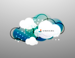 Vector clouds technology designのイラスト素材 [FYI03096858]
