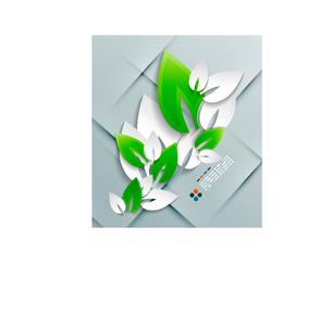 Vector paper leaves modern designのイラスト素材 [FYI03096887]