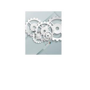Vector paper gear modern designのイラスト素材 [FYI03096910]