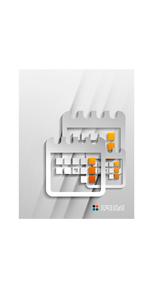 Vector calendar paper modern designのイラスト素材 [FYI03096911]