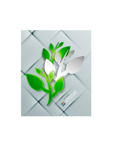Vector paper leaves modern designのイラスト素材 [FYI03096913]