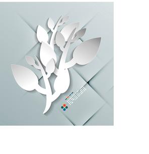 Vector paper leaves modern designのイラスト素材 [FYI03096920]