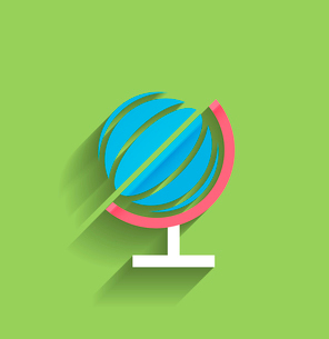 School globe vector flat designのイラスト素材 [FYI03096934]