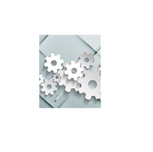 Vector paper gear modern designのイラスト素材 [FYI03096952]