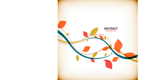 Minimal autumn floral abstract backgroundのイラスト素材 [FYI03097011]