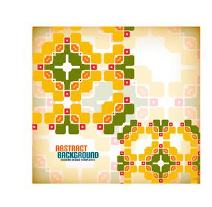 Vector geometric vintage retro pattern backgroundのイラスト素材 [FYI03097128]