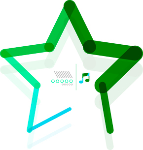Vector star abstract geometric shape conceptのイラスト素材 [FYI03097134]
