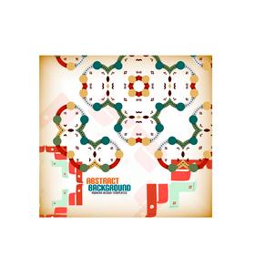 Vector geometric vintage retro pattern backgroundのイラスト素材 [FYI03097154]