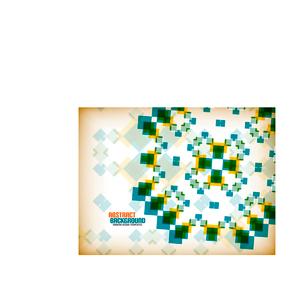 Vector geometric vintage retro pattern backgroundのイラスト素材 [FYI03097160]