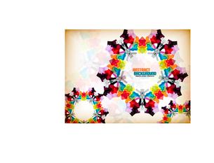 Vector geometric vintage retro pattern backgroundのイラスト素材 [FYI03097174]