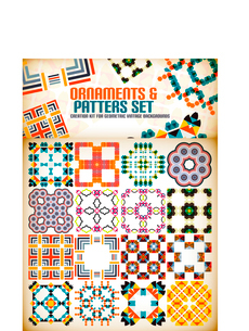 Abstract geometric vintage retro shapes for background creation. Creation kitのイラスト素材 [FYI03097201]