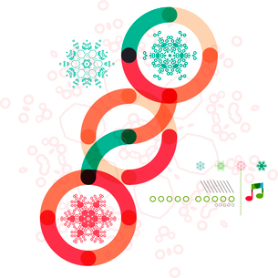 Christmas geometric shape minimal snowflake abstract designのイラスト素材 [FYI03097205]