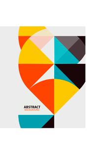 Colorful geometrical modern art minimal templateのイラスト素材 [FYI03097206]