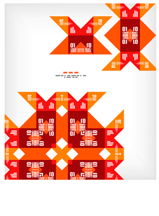 Vector geometric vintage retro pattern backgroundのイラスト素材 [FYI03097212]