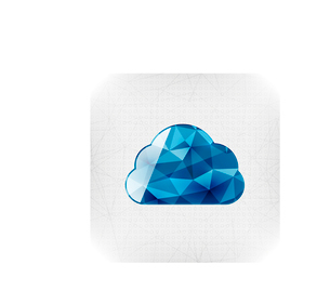 Geometric cloud paper conceptのイラスト素材 [FYI03097232]