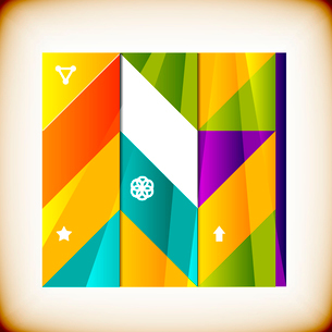 Modern geometrical abstract backgroundのイラスト素材 [FYI03097235]