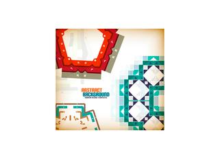 Vector geometric vintage retro pattern backgroundのイラスト素材 [FYI03097252]