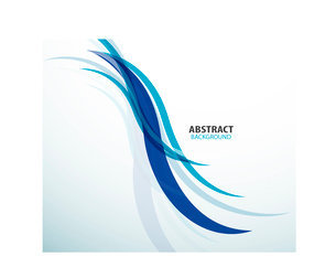 Abstract background blue technology waveのイラスト素材 [FYI03097274]