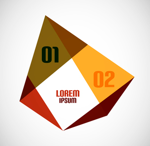 Modern geometrical abstract backgroundのイラスト素材 [FYI03097277]