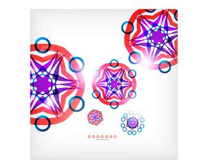 Vector geometric vintage retro pattern backgroundのイラスト素材 [FYI03097284]