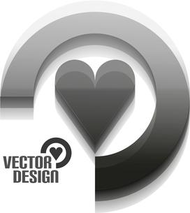 Vector 3d glossy arrow circle hi-tech conceptのイラスト素材 [FYI03097292]