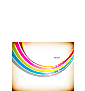 Rainbow flowing swirl colorful abstract background for technology or businessのイラスト素材 [FYI03097302]