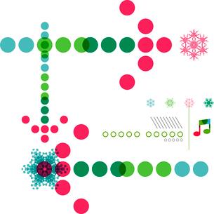 Christmas geometric shape minimal snowflake abstract designのイラスト素材 [FYI03097309]
