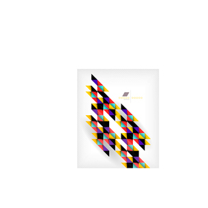 Colorful geometric shape triangle backgroundのイラスト素材 [FYI03097348]