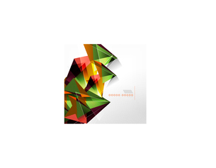 Vector green and orange triangle geometric shape backgroundのイラスト素材 [FYI03097352]