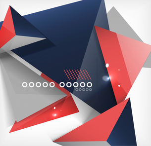 Abstract geometric shape background. For business / technology / educationのイラスト素材 [FYI03097365]