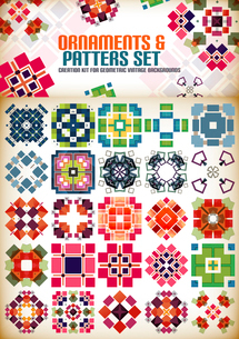 Abstract geometric vintage retro shapes for background creation. Creation kitのイラスト素材 [FYI03097381]