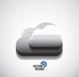 3d vector cloud computing concept iconのイラスト素材 [FYI03097393]