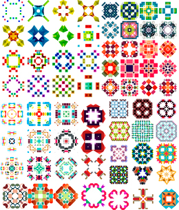 Set of abstract geometric icons / shapes. Can be used for vintage backgrounds / patternsのイラスト素材 [FYI03097415]