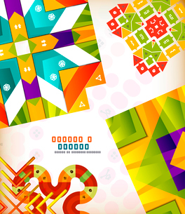 Abstract geometric vintage retro shapes for background creation. Creation kitのイラスト素材 [FYI03097418]
