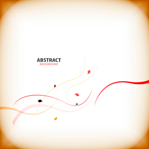 Minimal autumn floral abstract backgroundのイラスト素材 [FYI03097434]