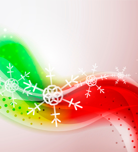 Abstract Christimas wavy line backgroundのイラスト素材 [FYI03097455]