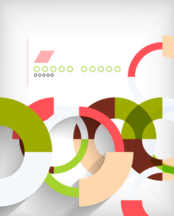 Rings geometric shapes abstract backgroundのイラスト素材 [FYI03097459]