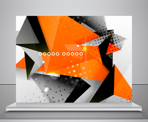 Abstract geometric shape background. For business / technology / educationのイラスト素材 [FYI03097465]