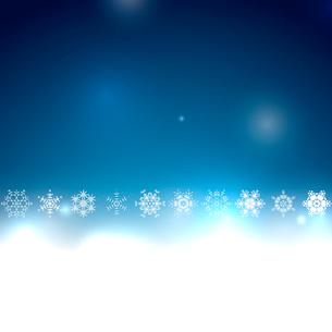 Blue Christmas bokeh snowflake vector backgroundのイラスト素材 [FYI03097482]