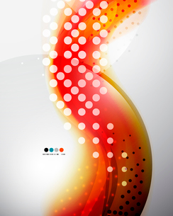 Abstract red dotted elegant wave patternのイラスト素材 [FYI03097487]