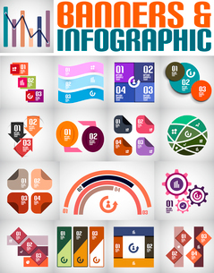 Big set of infographic banners and backgroundsのイラスト素材 [FYI03097493]